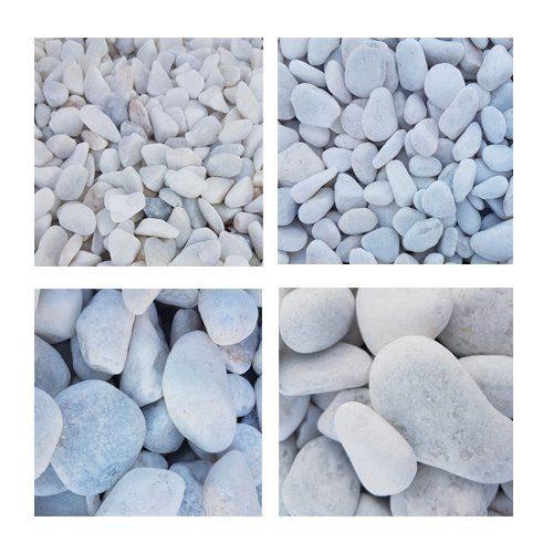 galet de marbre blanc