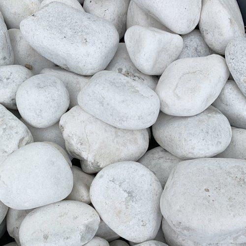 galets de marbre blanc de carrare à Dijon